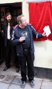 Mark Steeds at the unveiling ceremony