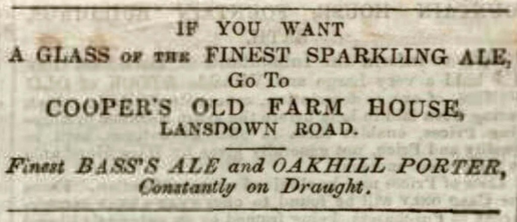 An advert from 1857