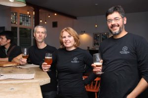 The team from Kettlesmith Brewery at the tap takeover on 8 October